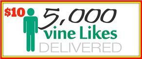 5,000 Vine Likes Delivered for $10