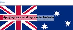 Applying for a working visa in Australia